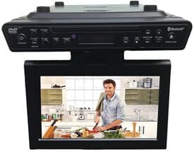 Sylvania SKCR2706BT 10.2 Under Cabinet Kitchen TV with Built in DVD Player & HDMI, Bluetooth
