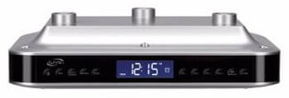 iLive iKB333S Under Cabinet Radio with Bluetooth Speakers (Silver)